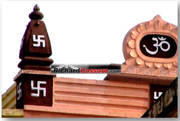 Hindu-Temple-in-India-with-Swastikas