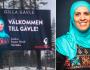 Una citta` in Svezia accoglie i turisti con una donna inhijab